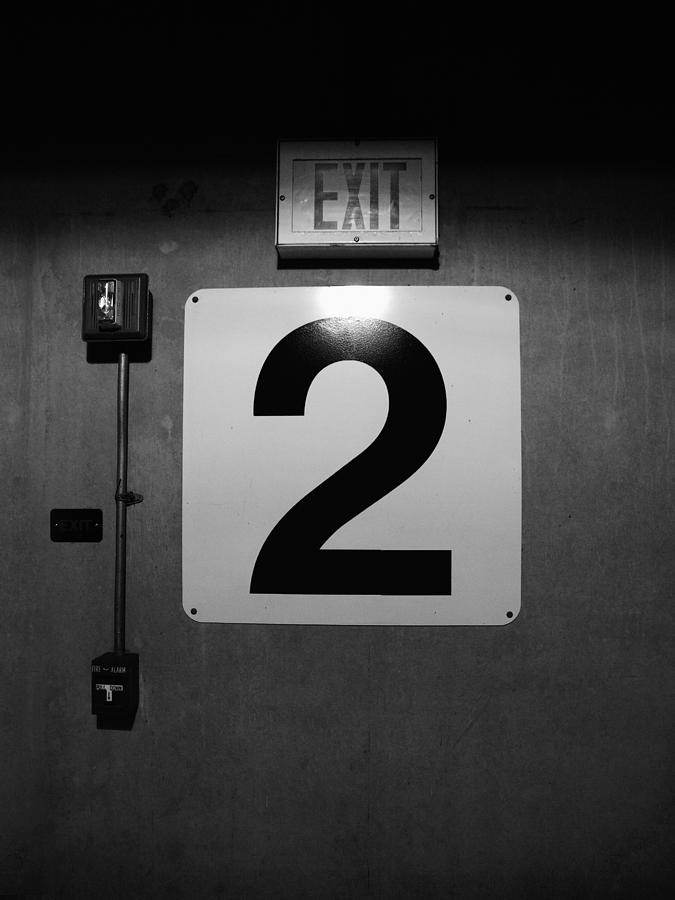 Door Photograph - Exit Two by Bob Orsillo