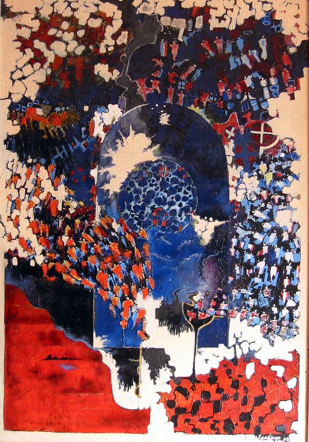 Exodus From The Earth Painting by Adalardo Nunciato  Santiago