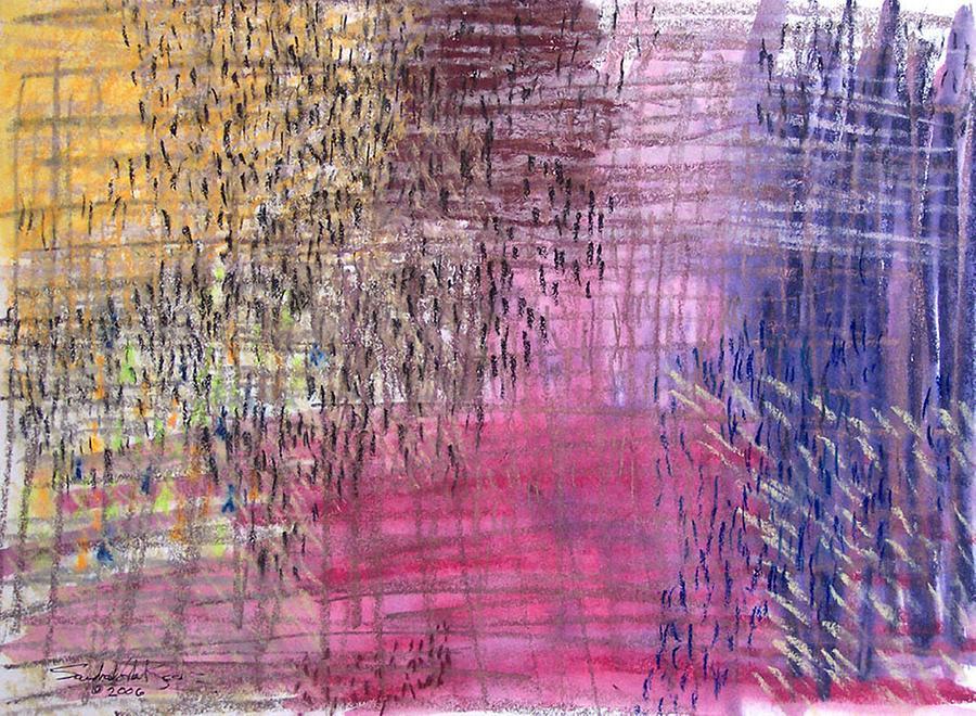 Pastel Painting - Exodus by Saundra Lee York