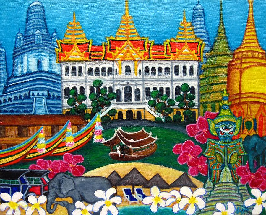 Bangkok Painting - Exotic Bangkok by Lisa  Lorenz