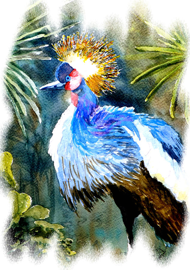 exotic bird painting by steven ponsford