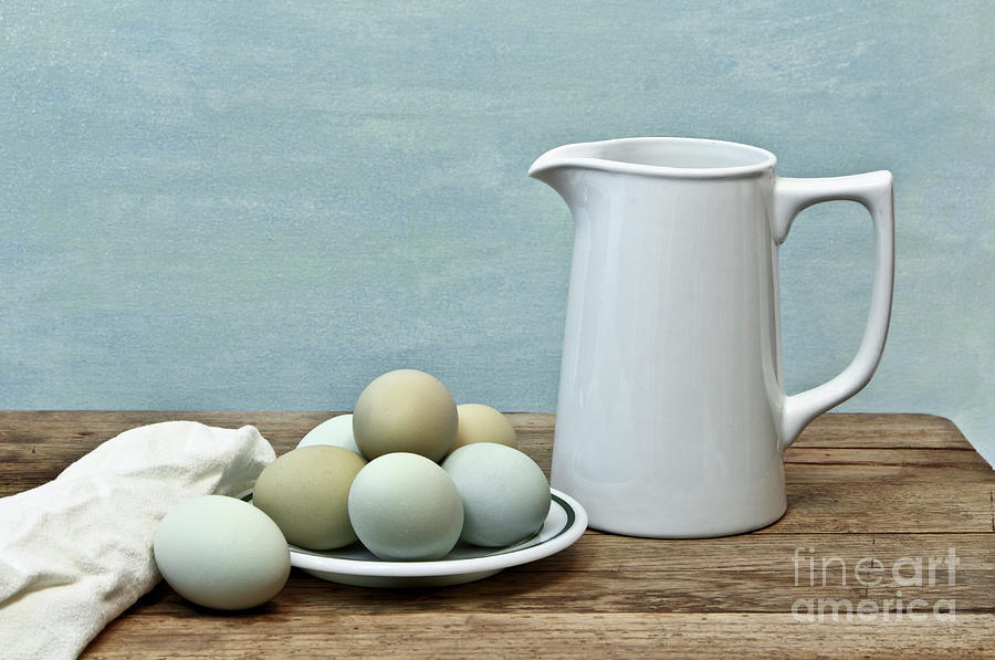 Exotic Colored Eggs with Pitcher by Pattie Calfy