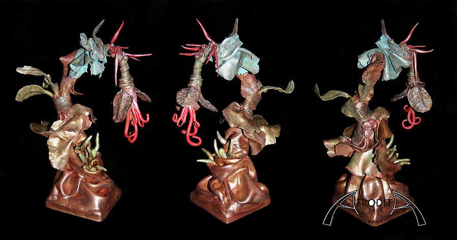 Clay Sculpture - Exotic Fantasy by Afrodita Ellerman