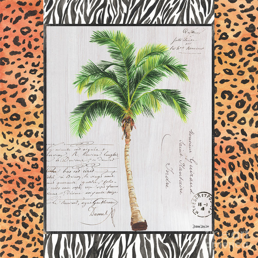 Tropical Painting - Exotic Palms 1 by Debbie DeWitt