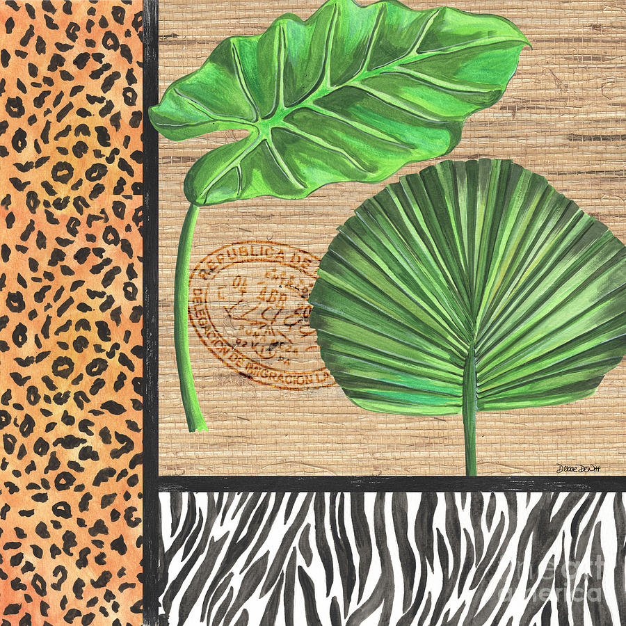 Tropical Painting - Exotic Palms 2 by Debbie DeWitt