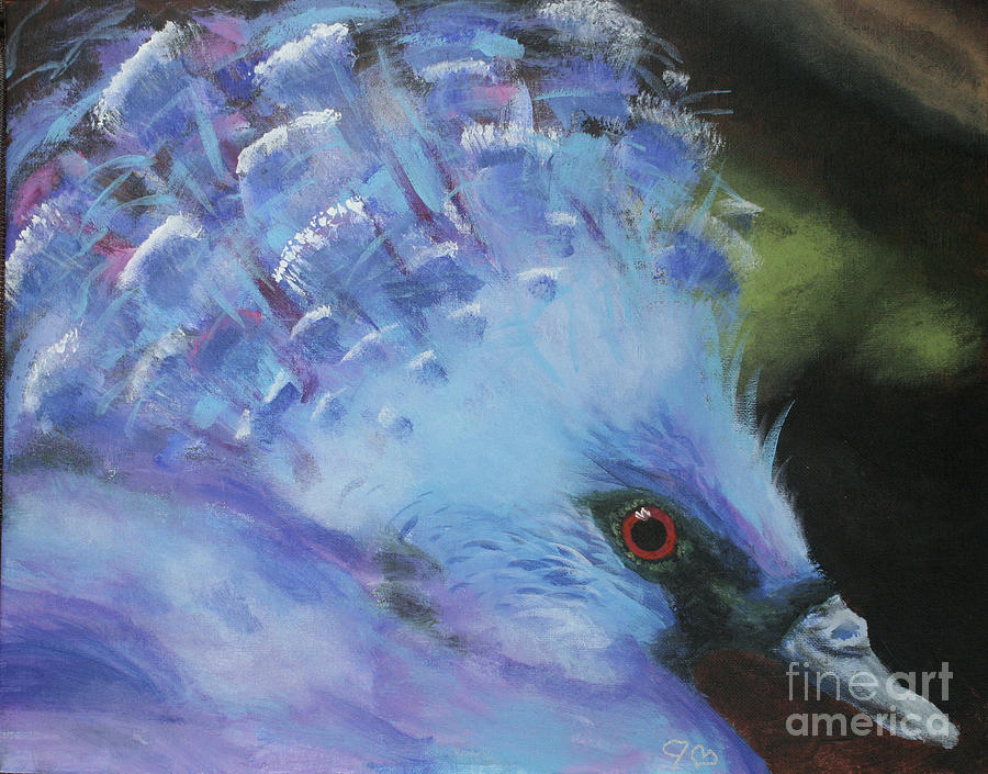 Eye Painting - Exotic Pigeon by Jamie Hartley