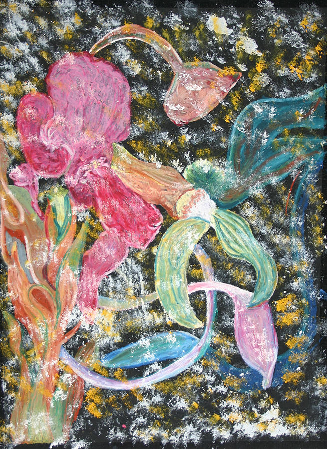 Exotic Flowers Painting - Exotic Plants 1 by Karen Stagemyer