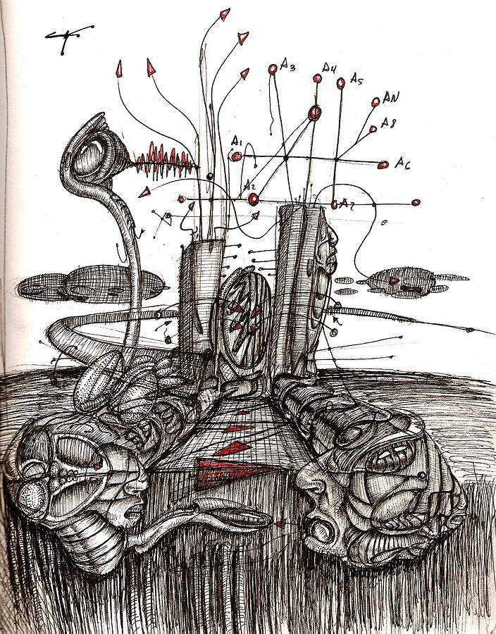 Expansion I Drawing by Gabriel Hernandez