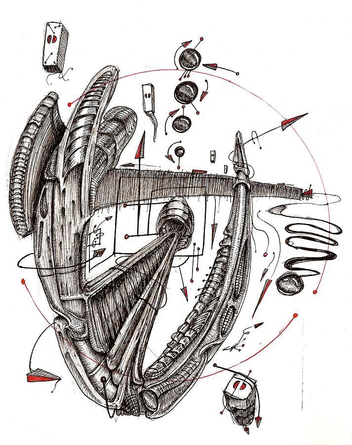 Expansion II Drawing by Gabriel Hernandez