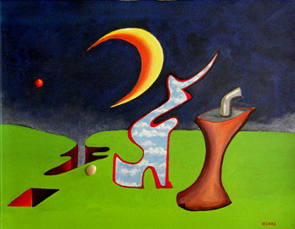 Moon Painting - Expectation by Robert Henne