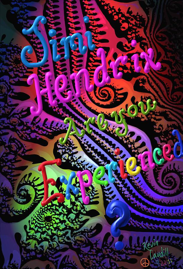 Jimi Hendrix Mixed Media - Experienced by Kevin Caudill