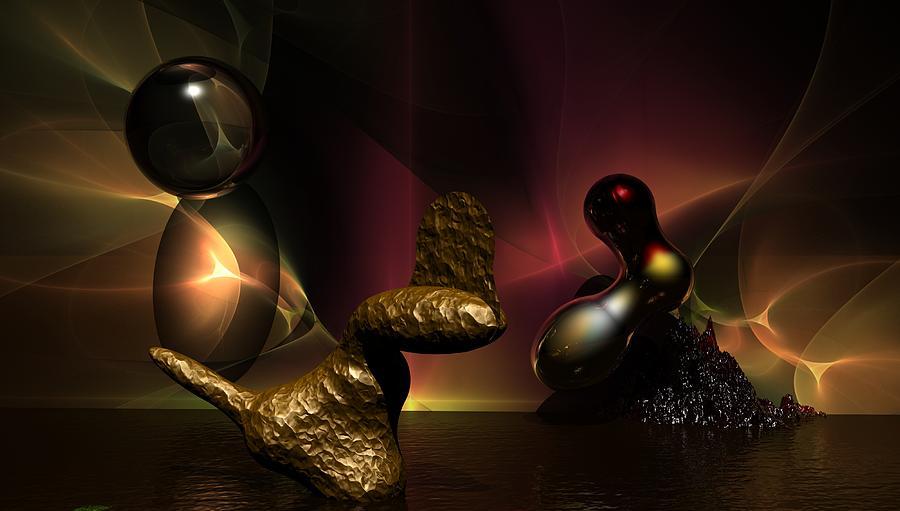 Fantasy Digital Art - Experiment In Dementia  by David Lane