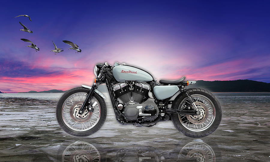 Cafe Racer Mixed Media - Exploring New Horizons by Marvin Blaine