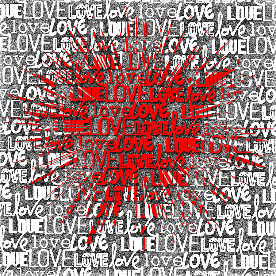 Explosion Of Love Digital Art By L Bee