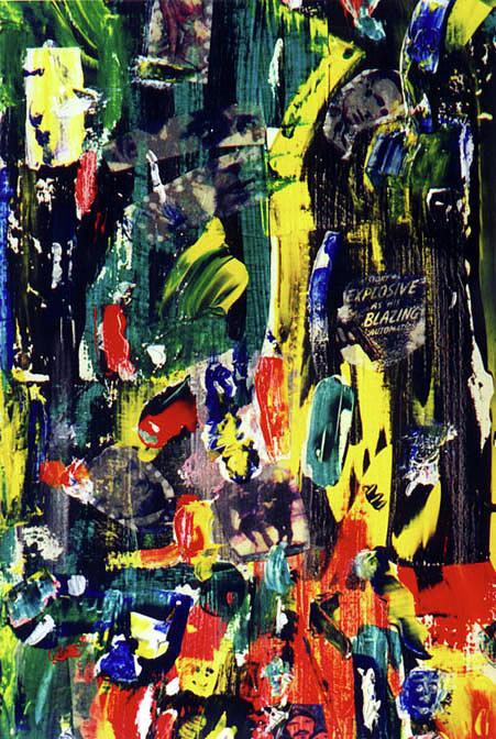 Bogart Painting - Explosive by Steven Polatnick