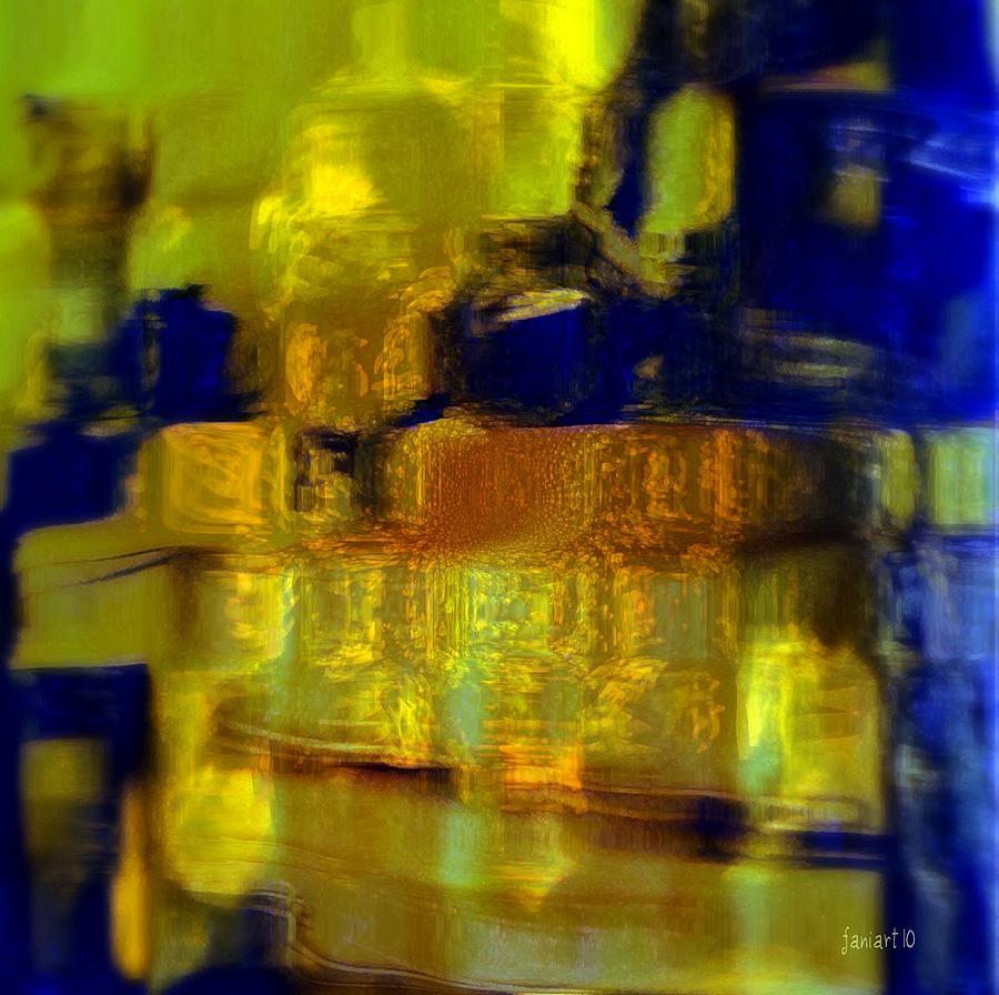 Fania Simon Digital Art - Exposed Brick And Paint by Fania Simon