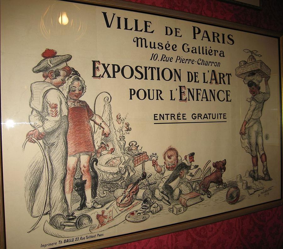 Children Print - Exposition De Lart Pour Lenfance by Adolph Willette