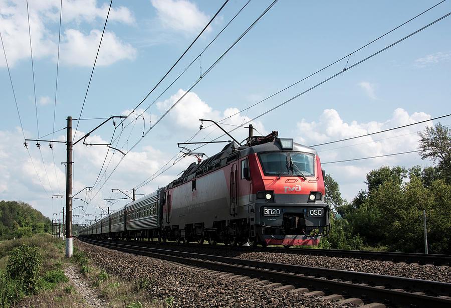 Express Train Photograph - Express Train by Sergei Dolgov
