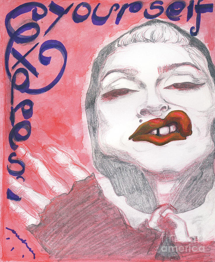 Madonna Mixed Media - Express Yourself by Andreea Paraschiv