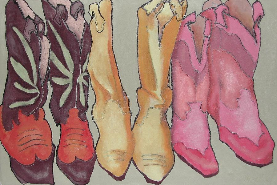 Boots Painting - Express Yourself Creatively by Wendy Hill