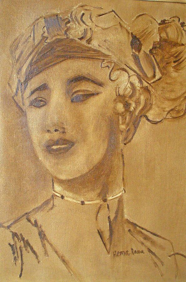 Portrait Painting - Expression by Hema Rana