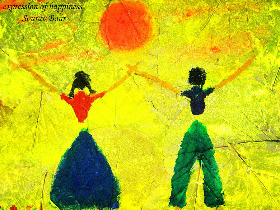 Expression Of Happiness Painting by Sourav Baur