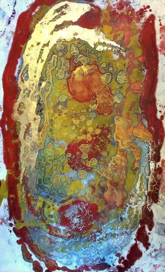 Abstract Painting - Expression of hate by Christine Johanns