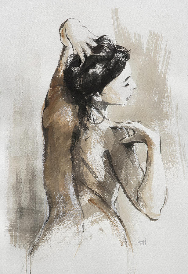 Woman Painting - Expression by Steve Henderson