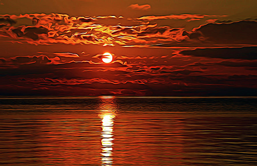 Expressionalism Amazing Sunset by Aimee L Maher ALM GALLERY