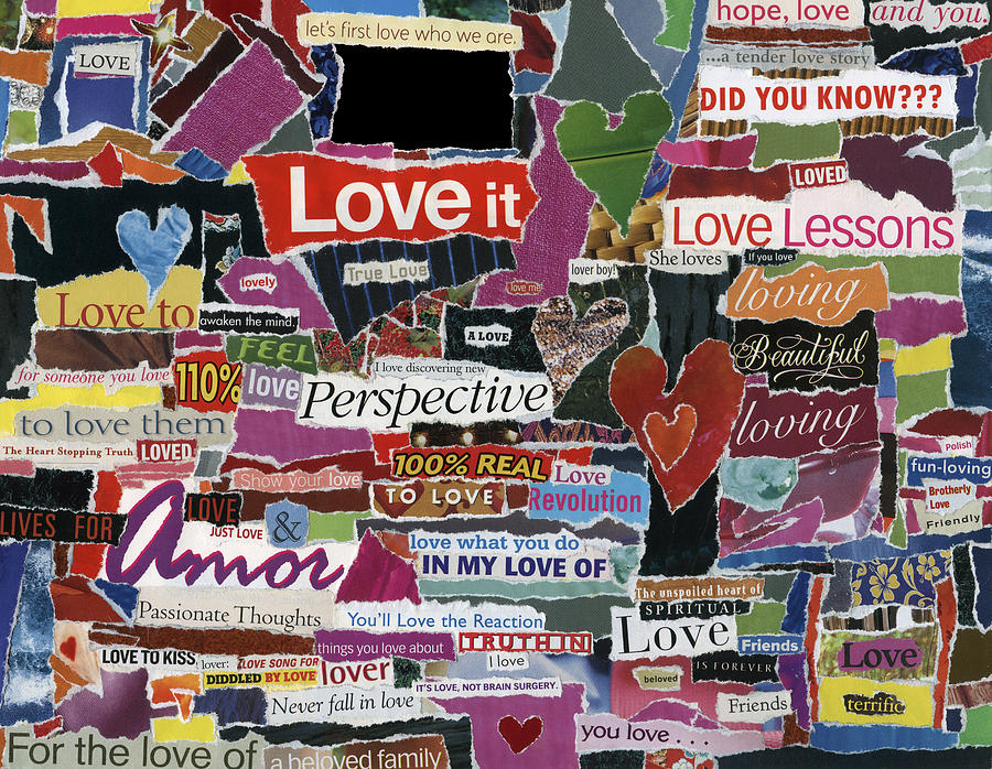 expressiond Love  Mixed Media by Kenneth James