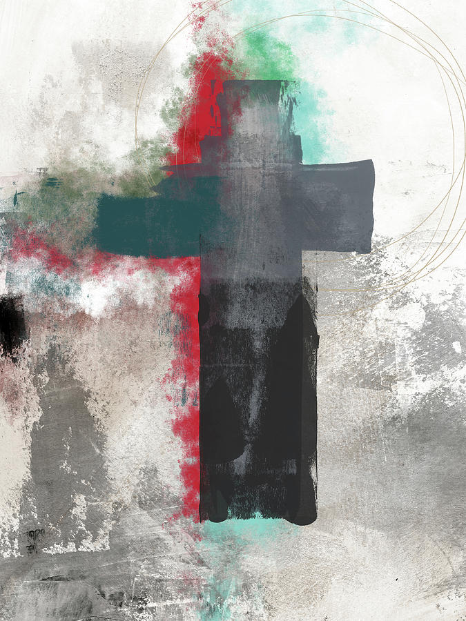 Cross Mixed Media - Expressionist Cross 4- Art By Linda Woods by Linda Woods