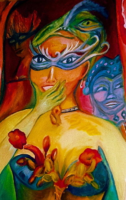 Mardi Gras Painting - Expressions Of Mardi Gras by Sidra Myers