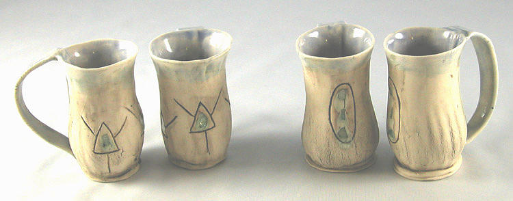 Expresso Ceramic Art - Expresso Cups by Janet Wyndham-Quin