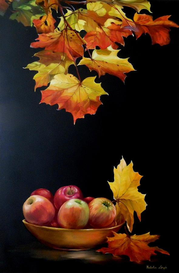 Fall Painting - Expression Of Yellow Leaves. by Natalia Leigh
