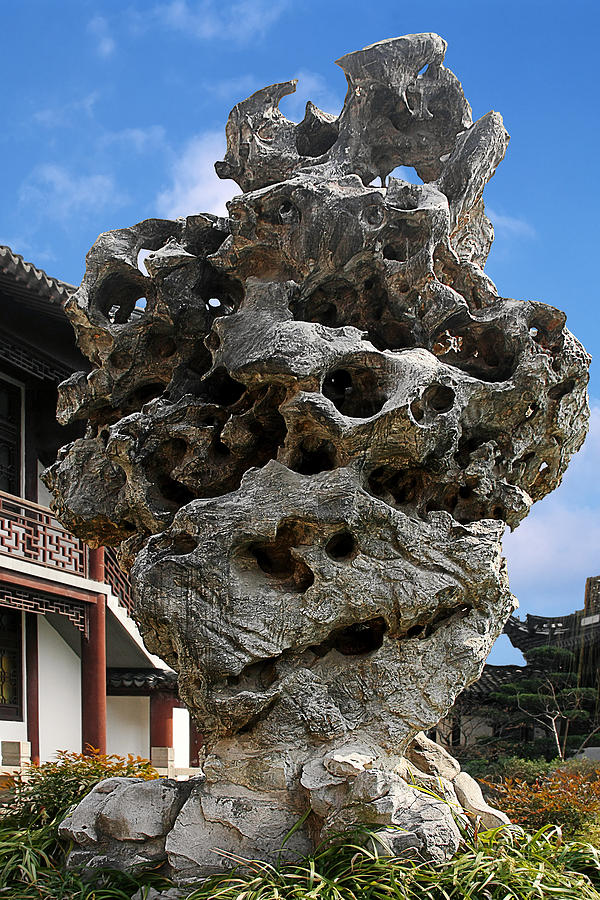 Rock Photograph - Exquisite Jade Rock - Yu Garden - Shanghai by Christine Till