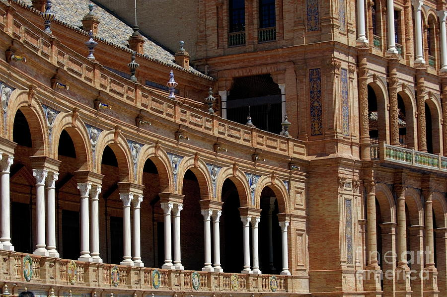 Andalusia Photograph - Exterior View Of The Plaza De Espana In Seville by Sami Sarkis