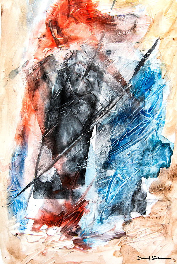 Abstract Painting - Extract 4 by Dan Sisken