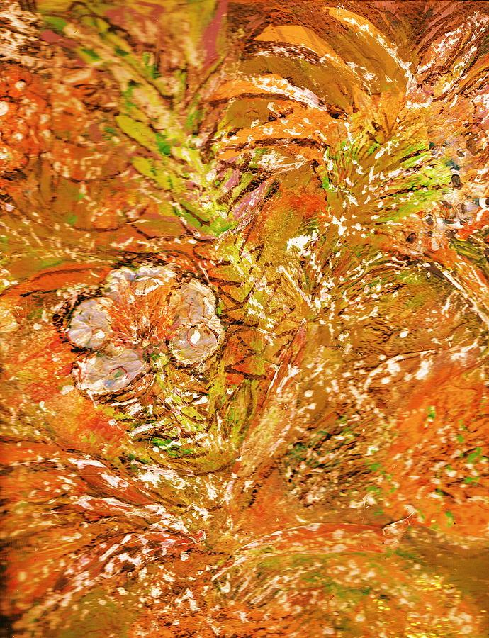 Orange Painting - Extravaganza Orange by Anne-Elizabeth Whiteway
