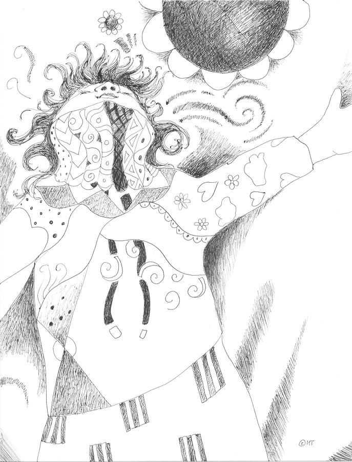 Spirited Drawing - Exuberance by Helena Tiainen