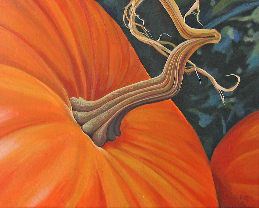 Exuberant Pumpkin Painting by Hunter Jay