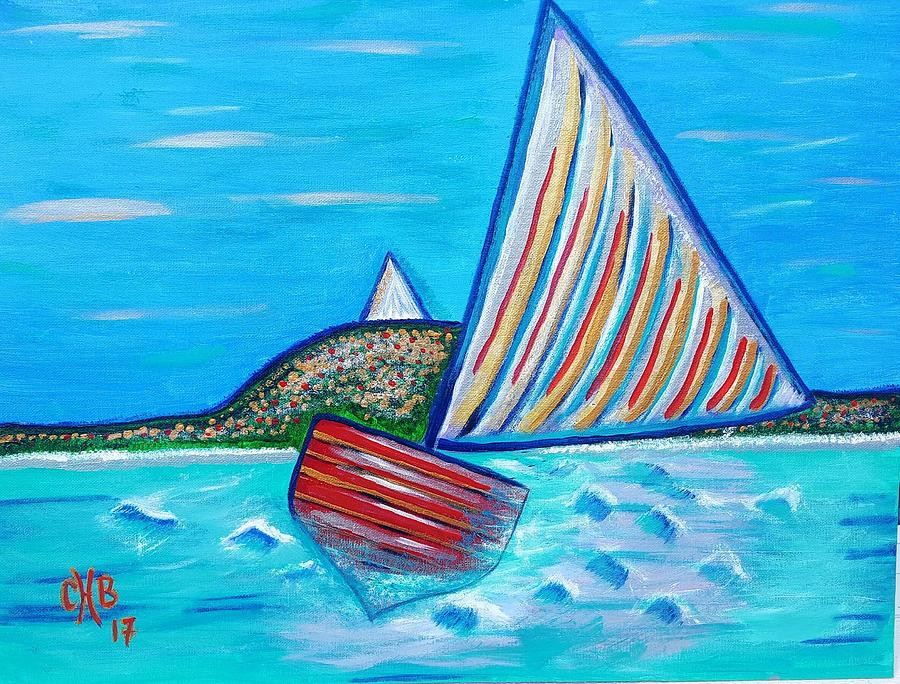 Exuma Regatta - Dipping Sails Digital Art