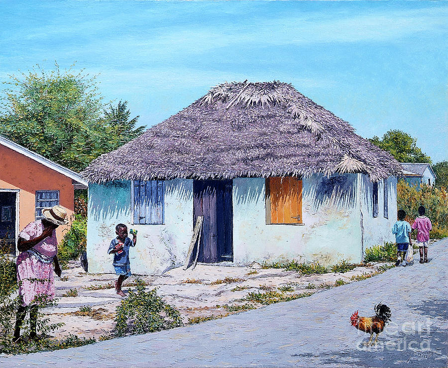 Exuma Thatch Hut by Eddie Minnis