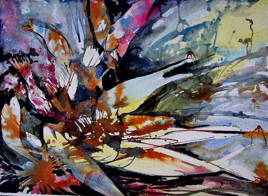 Fish Painting - Exxon Impact I by Laurie Salmela