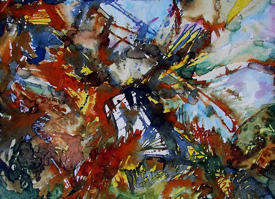 Eagle Painting - Exxon Impact II by Laurie Salmela