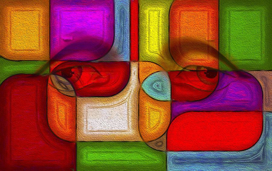 Abstract Digital Art - Eye Abstract by Rick Baker