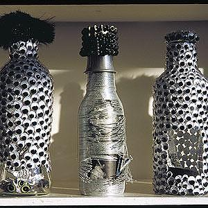 Bottle Mixed Media - Eye Bots by V Van Sant