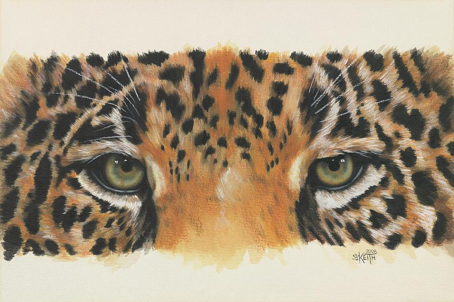 Big Cat Painting - Eye-catching Jaguar by Barbara Keith