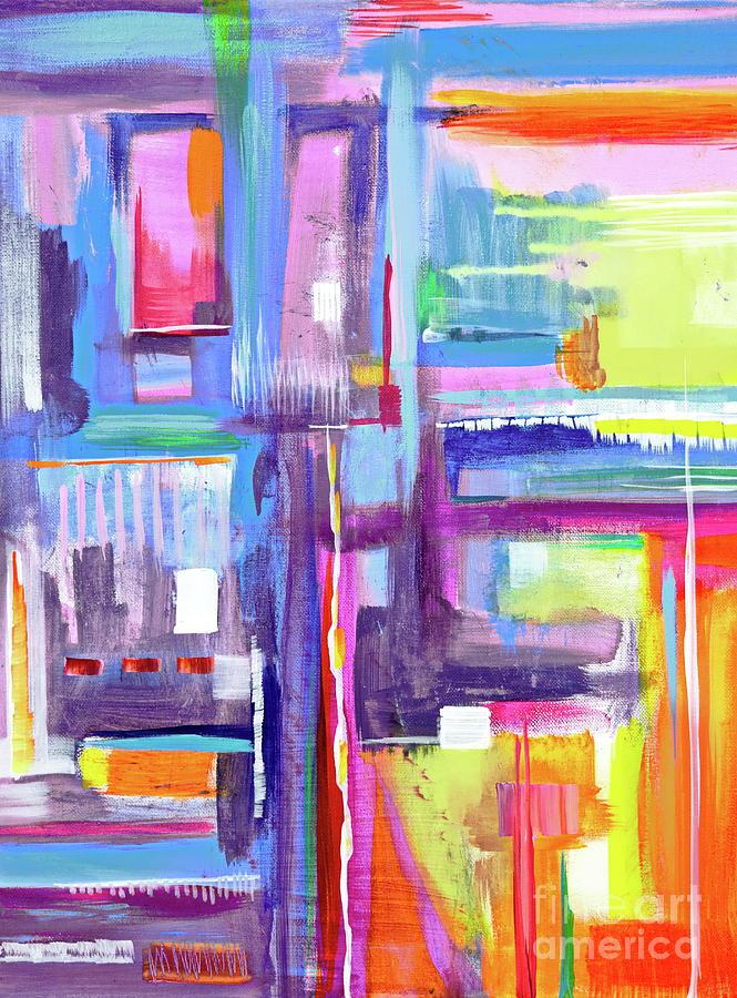 Vibrant Painting - Eye Dropper  by Priscilla Batzell Expressionist Art Studio Gallery