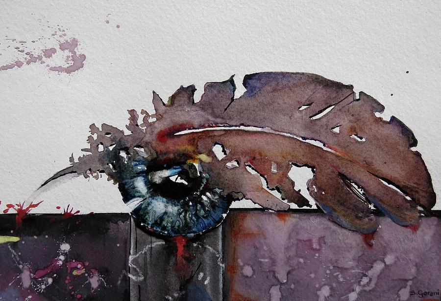 Painting Painting - Eye Feather by Geni Gorani