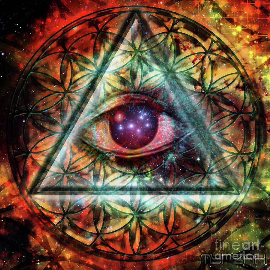 Third Eye Digital Art - Eye by Mynzah